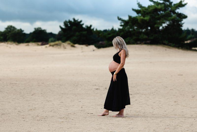 Kale duinen, zwangerschap shoot, Appelscha, zwanger, buiten shoot